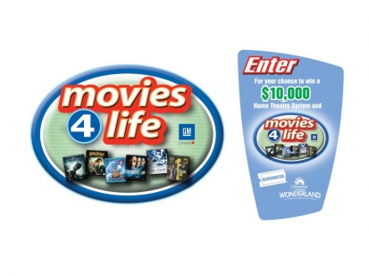 GM Canada Movies 4 Life: Program identity and collateral