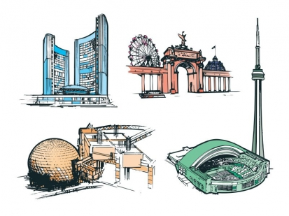 Toronto Tours: magazine illustration