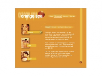 Orange Spa: website