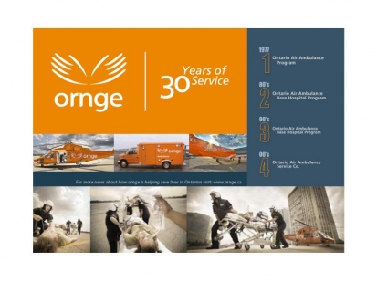 Ornge: promotional ad and collateral